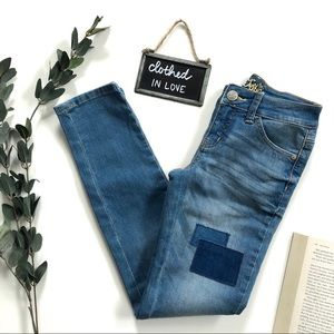 Justice Girls Patch Super Low Super Skinny Jeans